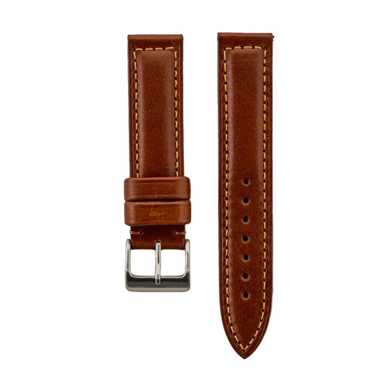 Tan Genuine Aniline Leather Strap