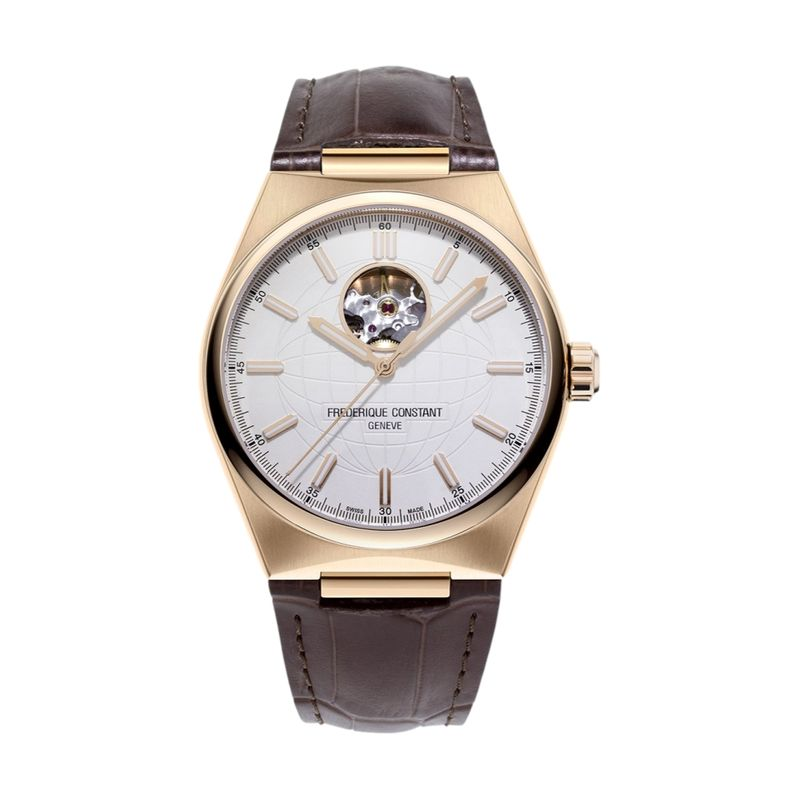 Highlife Heart Beat Silver Dial Rose Gold-Plated Case