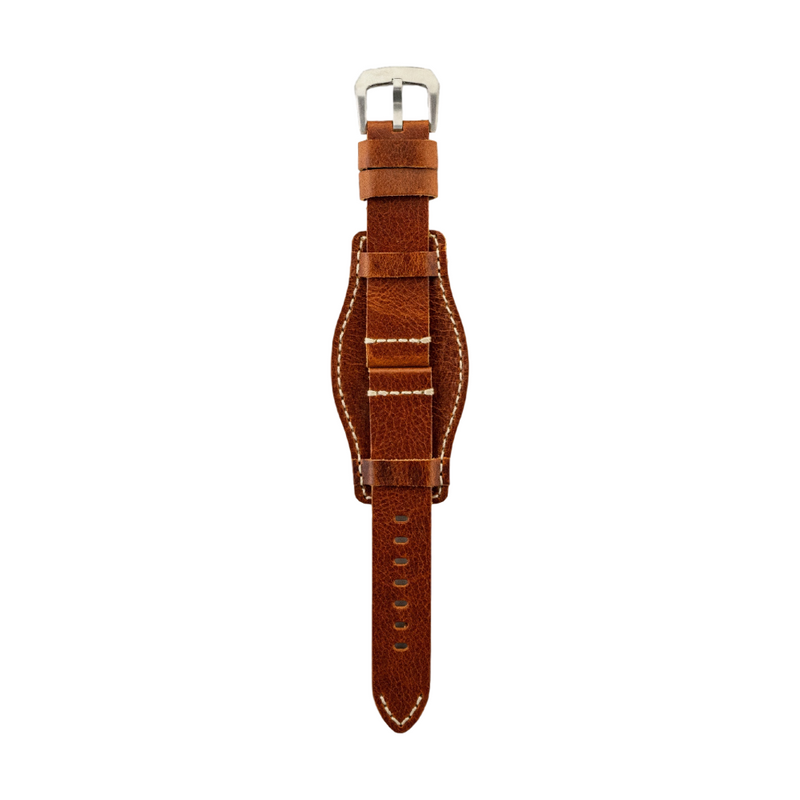 Chestnut Genuine Leather Bund Band Strap