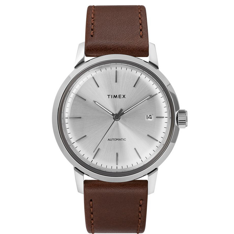 Marlin® Automatic 40mm Brown Leather Strap