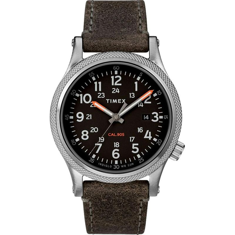 Allied LT 40mm Leather Strap Watch