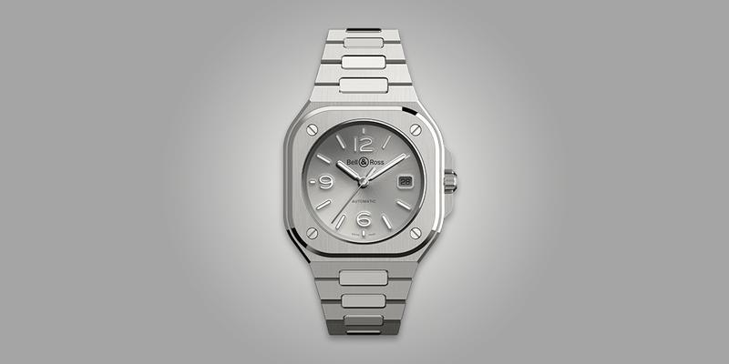 Bell & Ross BR05 Integrated bracelet silver dial sport watch