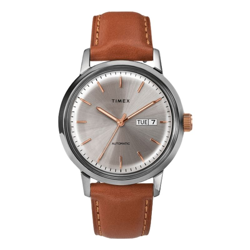 Marlin Automatic Day-Date 40mm Leather Strap Watch Cream