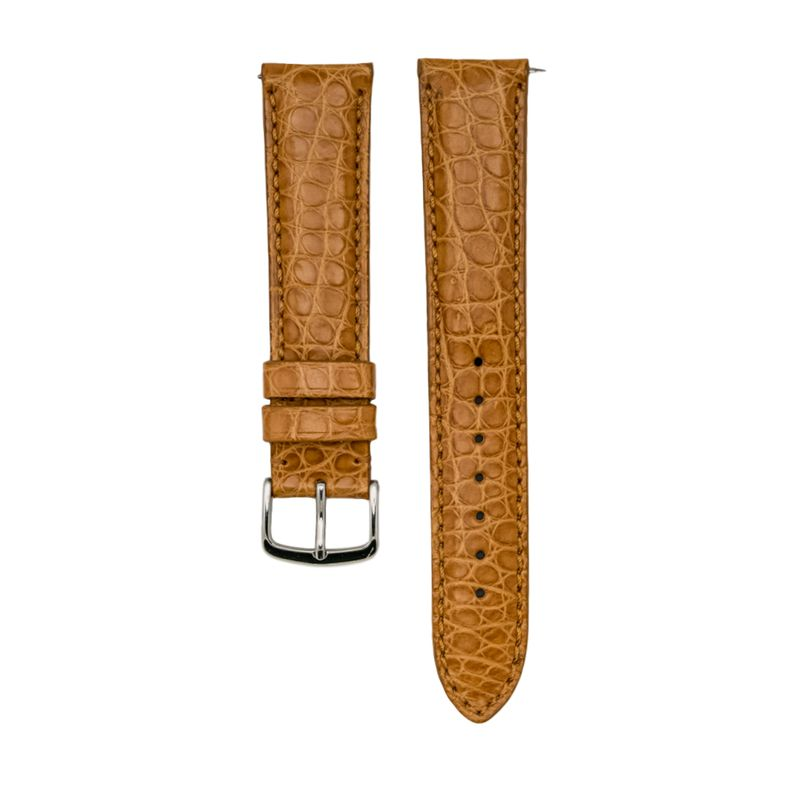 Genuine Tan Matte Alligator Strap