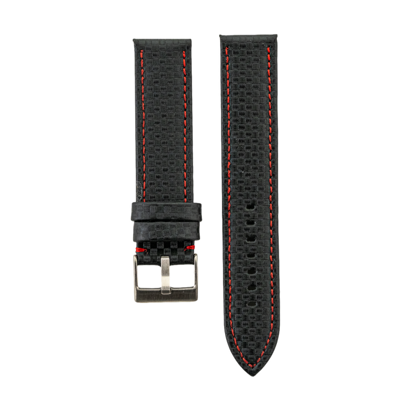 Red Carbon Fiber Style Strap
