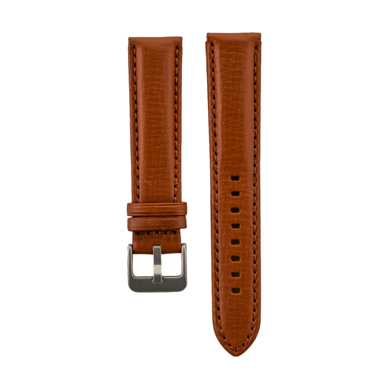 Chestnut Grained Italian Leather Strap