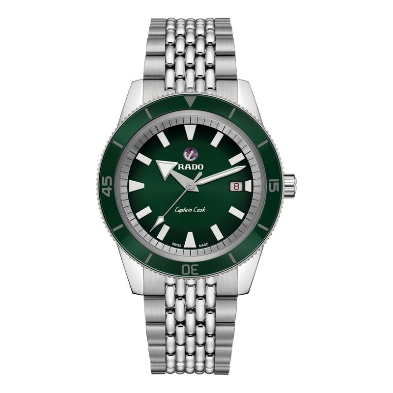 Captain Cook Automatic Green Dial Beads of Rice Bracelet