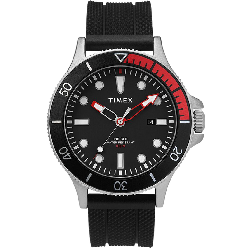 Allied Coastline 43mm Silicone Strap Watch