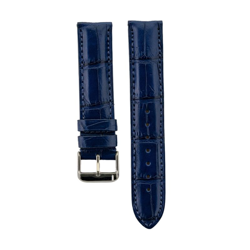 Blue Genuine Matte Alligator Strap