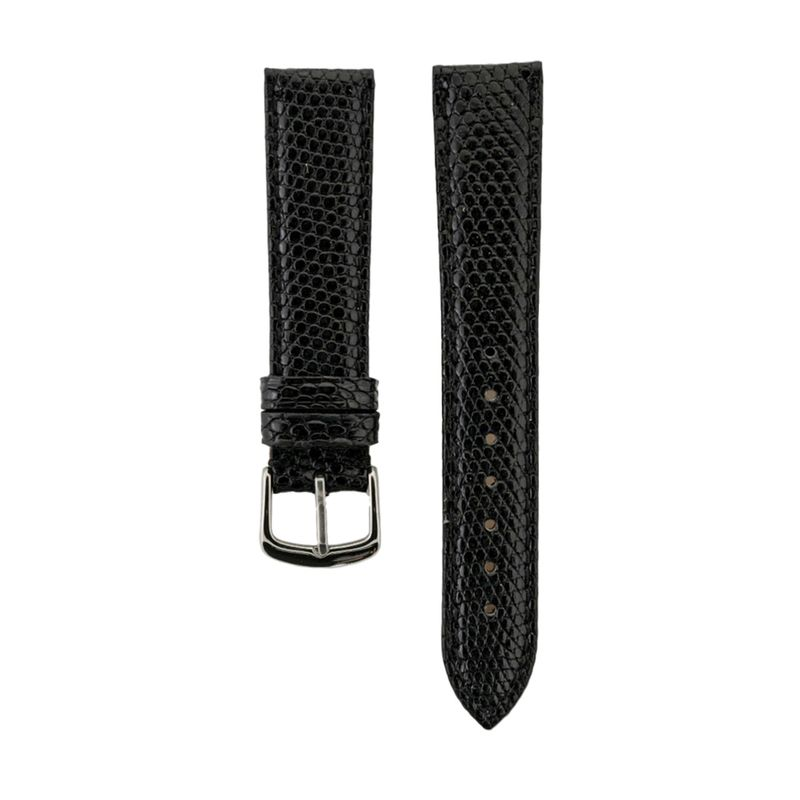 Black Genuine Java Lizard Ladies Strap