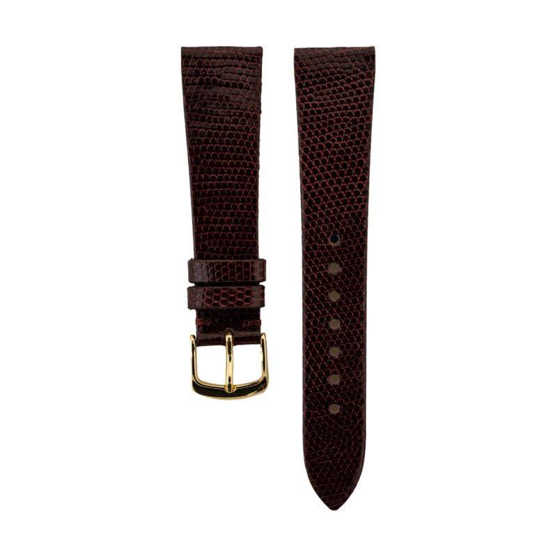 Burgundy Genuine Java Lizard Strap