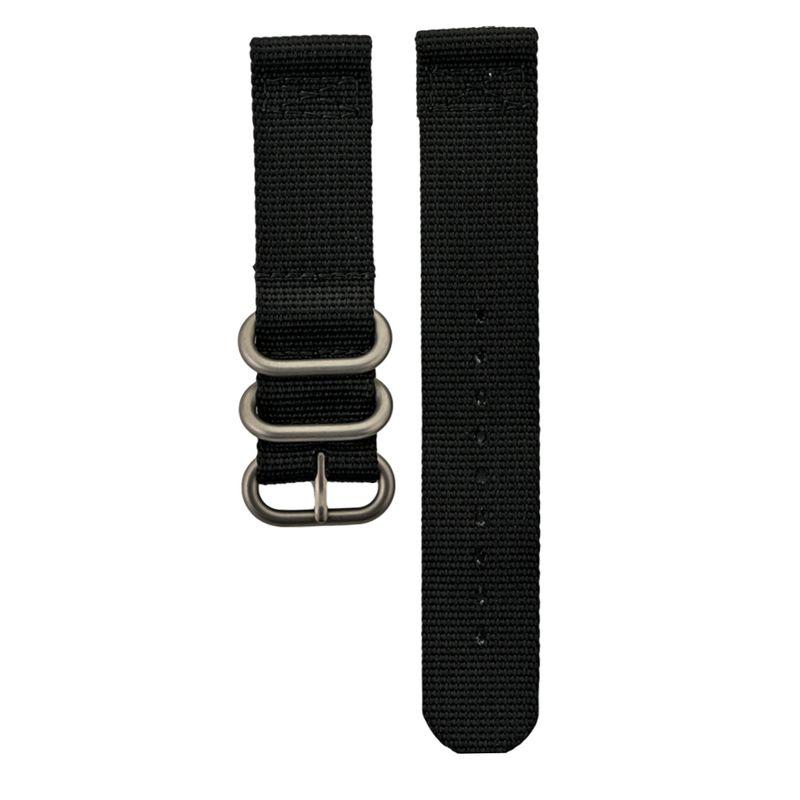 Black Two Piece Nylon Strap