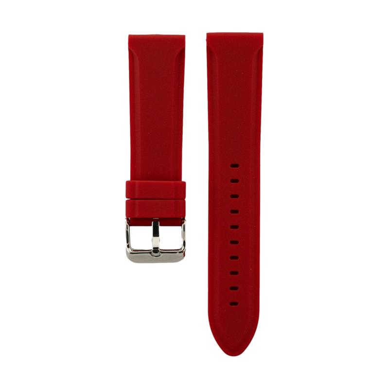 Red Genuine Silicone Classic Strap