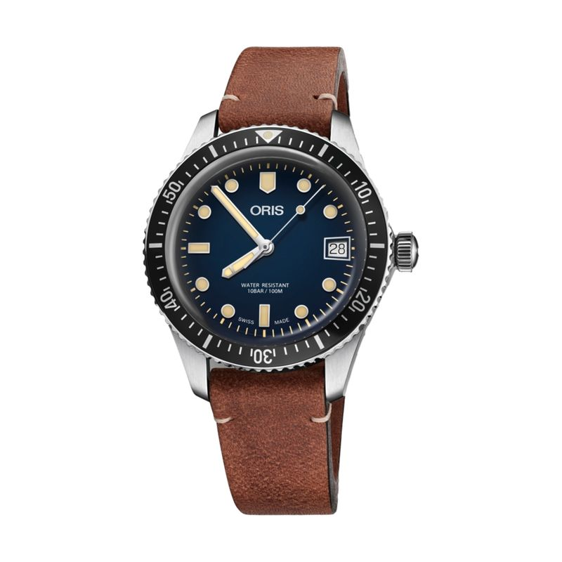 Divers Sixty-Five 36M Blue Leather