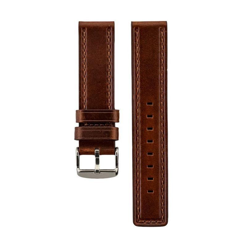 Brown Genuine Oil Tan Waterproof Leather Strap