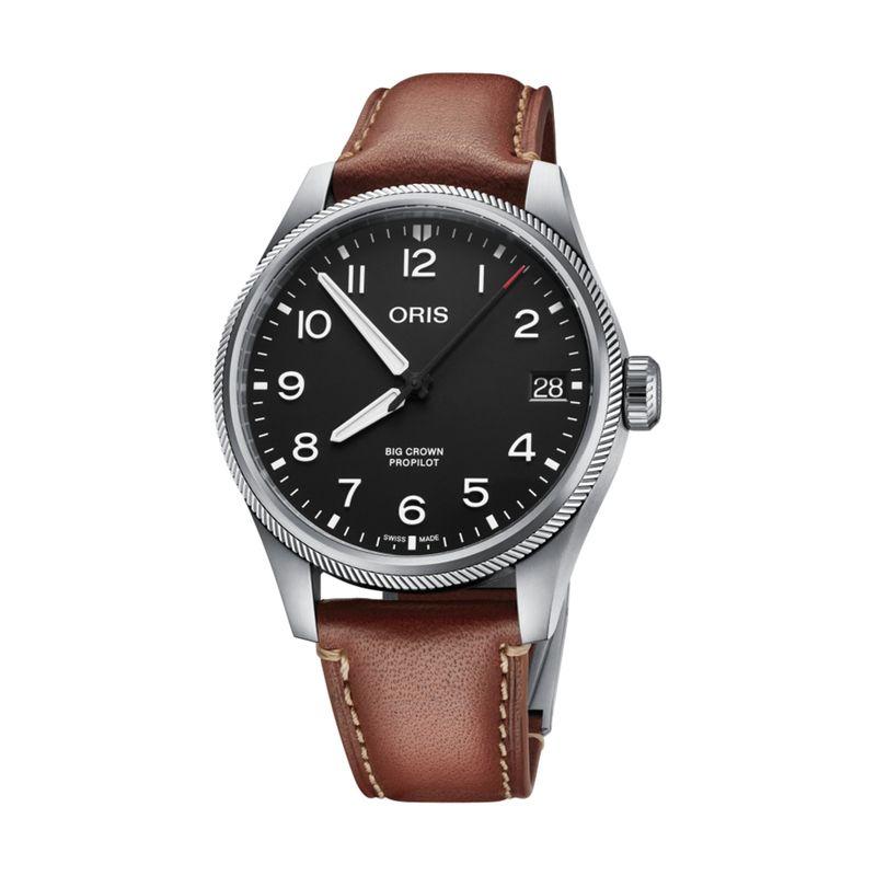 Big Crown Pro Pilot Date Black Leather