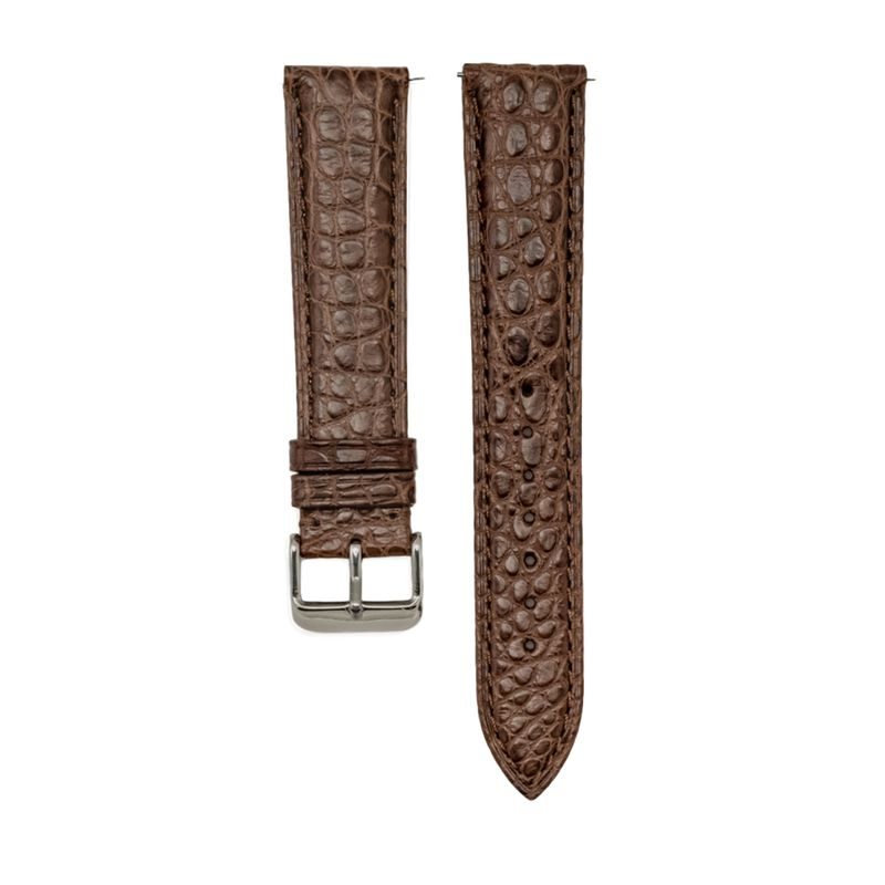 Genuine Brown Matte Alligator Light Padded Strap