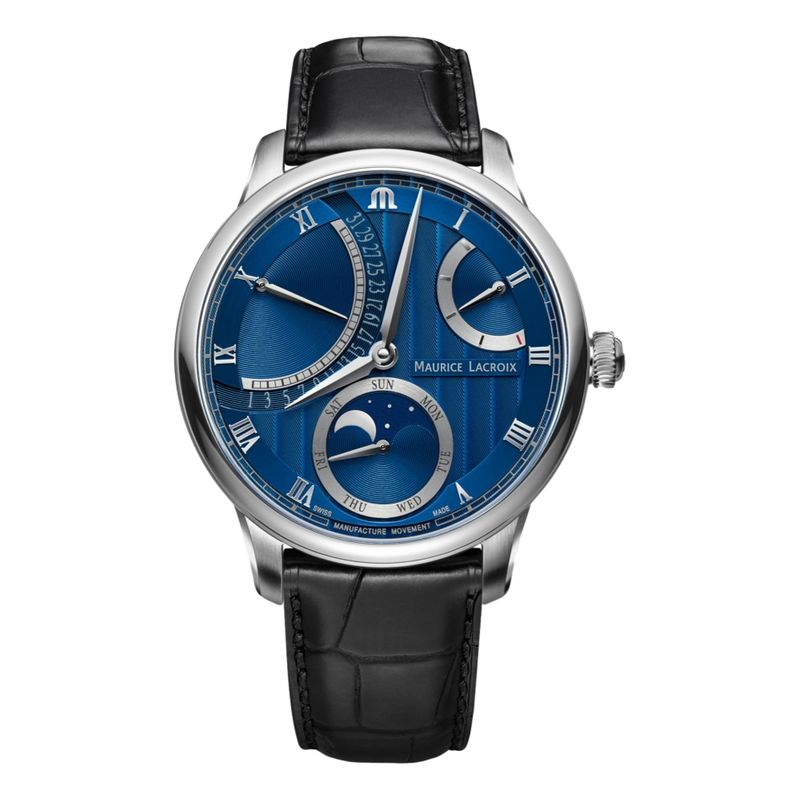 MASTERPIECE Moon Retrograde 43 mm - Blue Dial