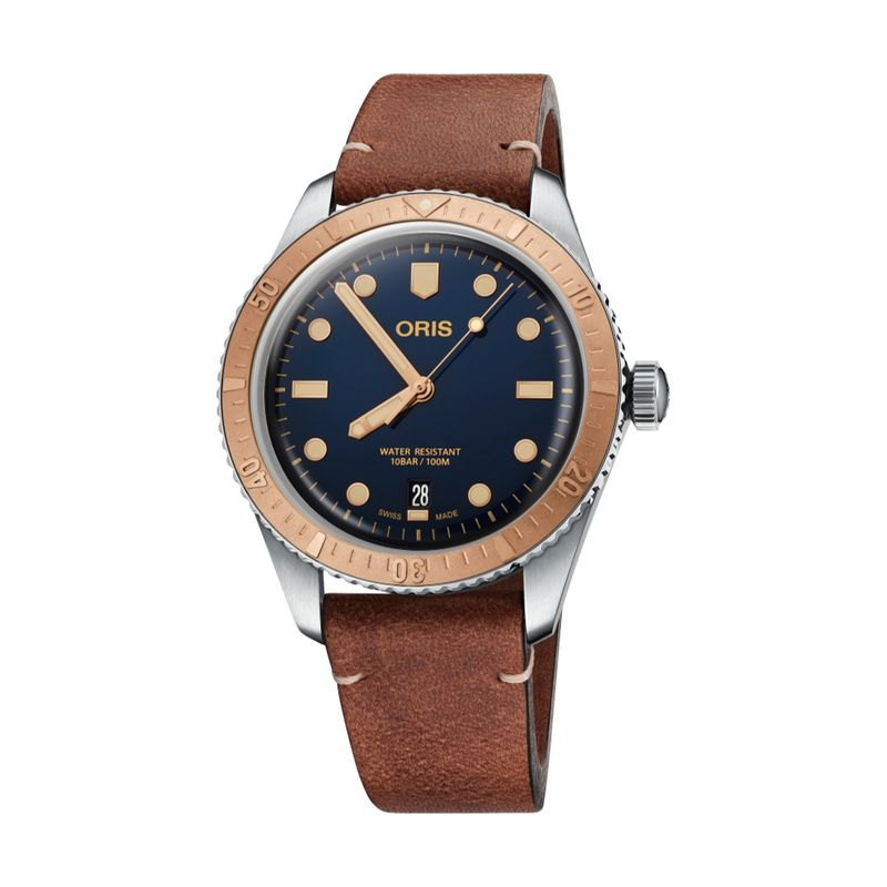Divers Sixty-Five Steel/Bronze 40M Leather