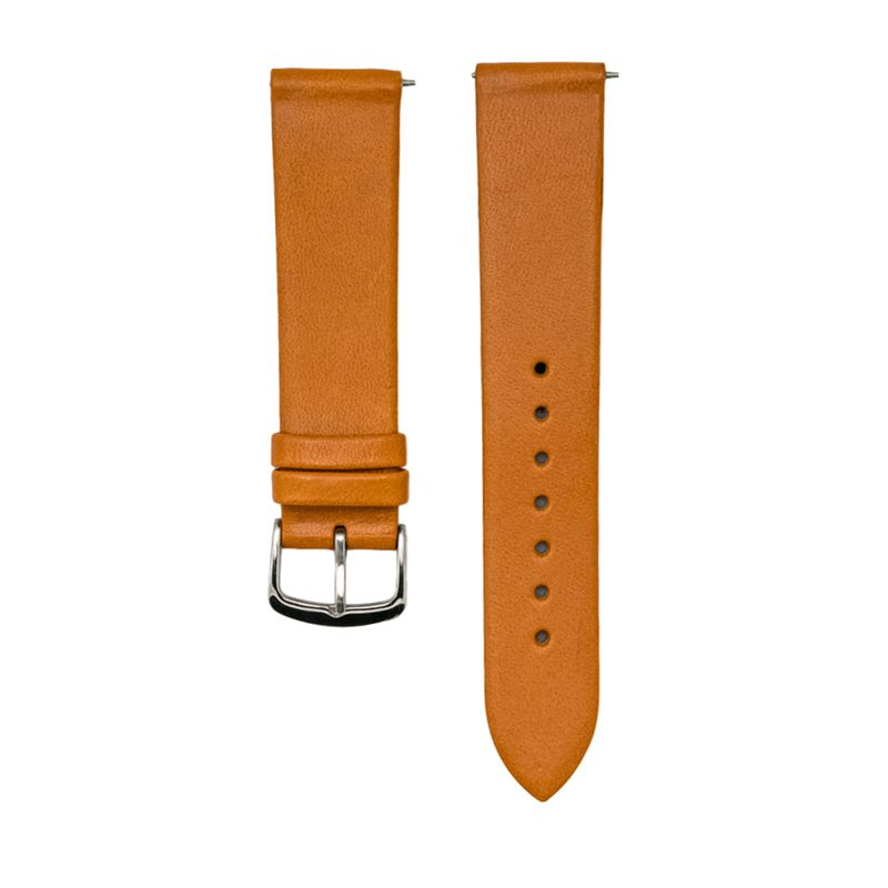 """Tan Genuine Italian """"Vegetable Tanned"""" Leather Strap"""