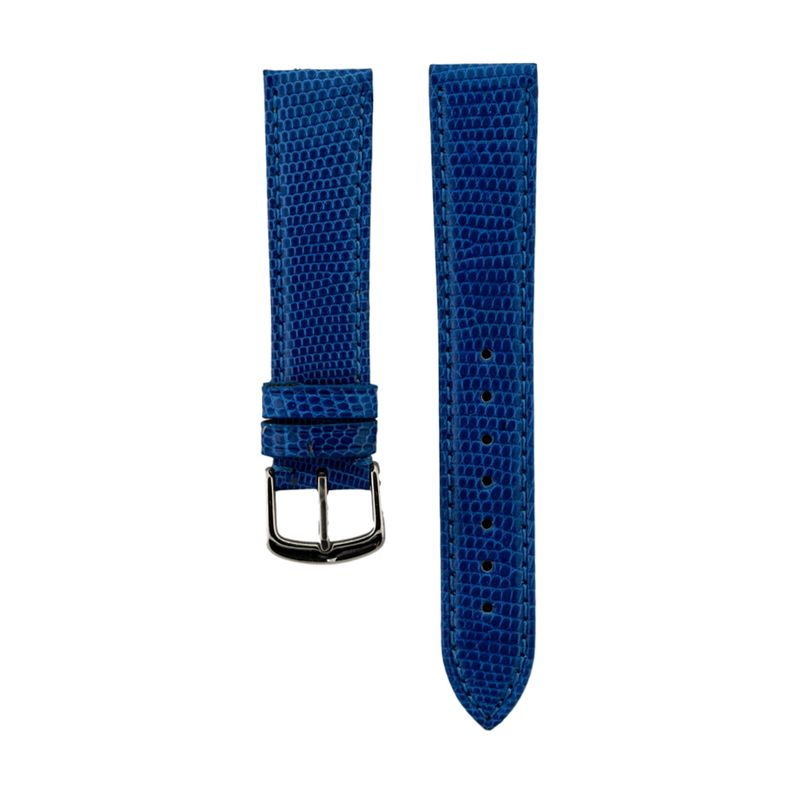 Blue Genuine Java Lizard Strap