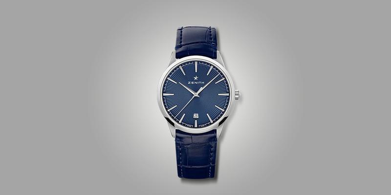 Zenith Elite Classic Dress watch on leather strap