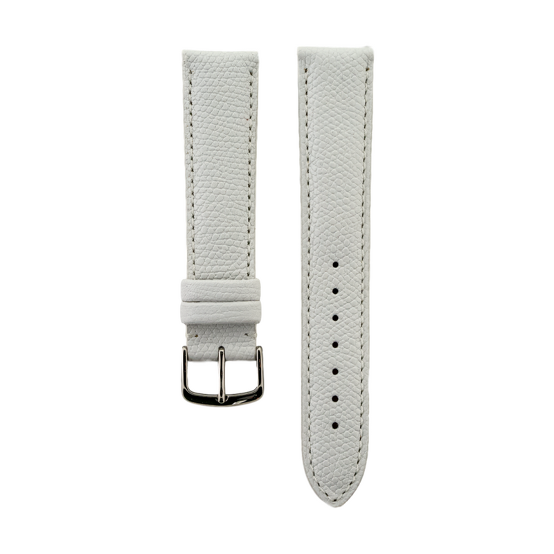 White Hermes Grain Leather