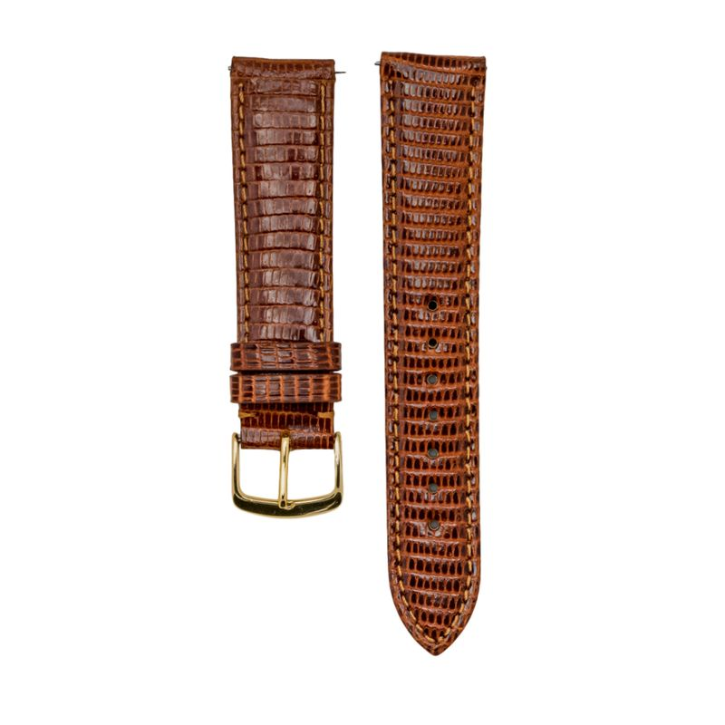 Tan Genuine Java Lizard Strap