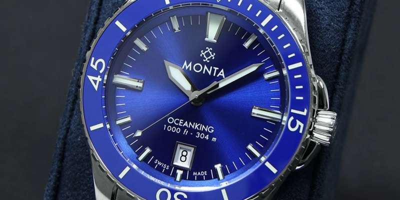 Monta Oceanking Blue Dial on Bracelet