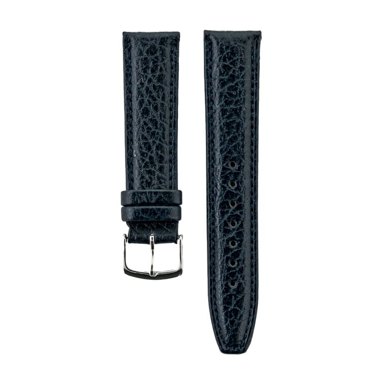 Navy Shrunken Grain Genuine Italian Leather Strap