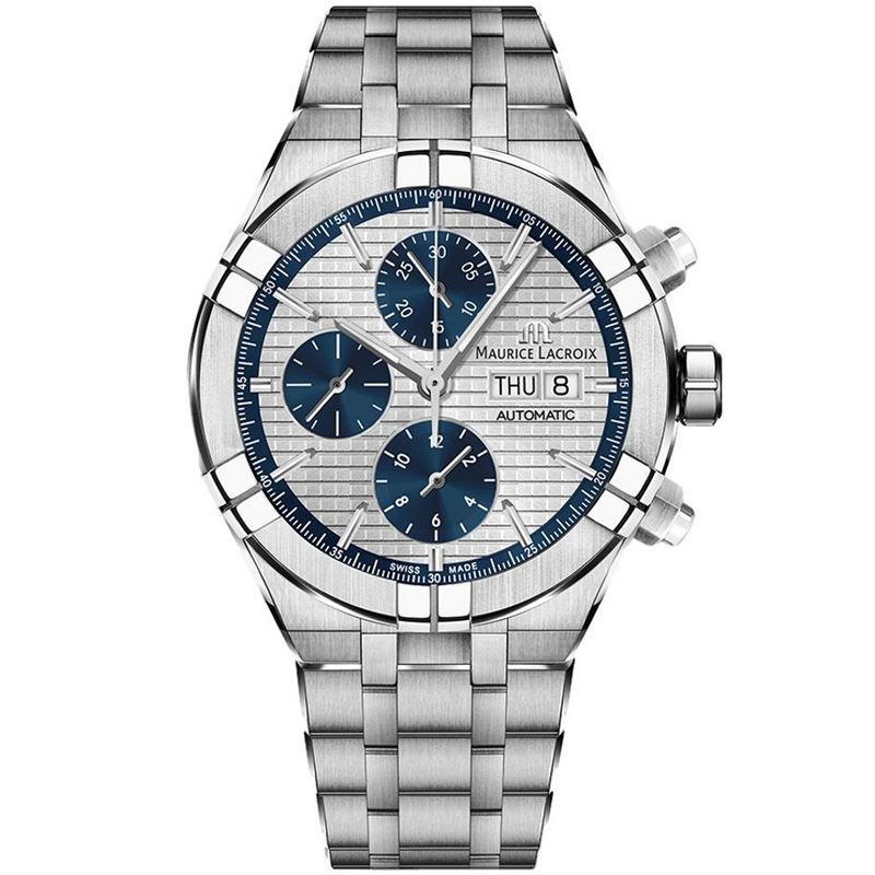 AIKON Automatic Chronograph Blue Counters