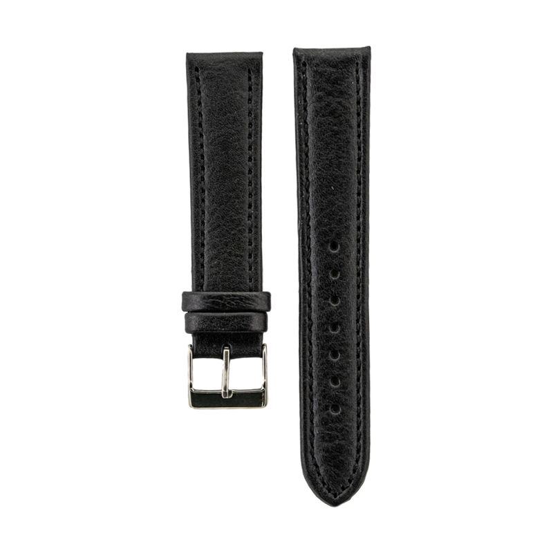 Black Genuine Leather Strap