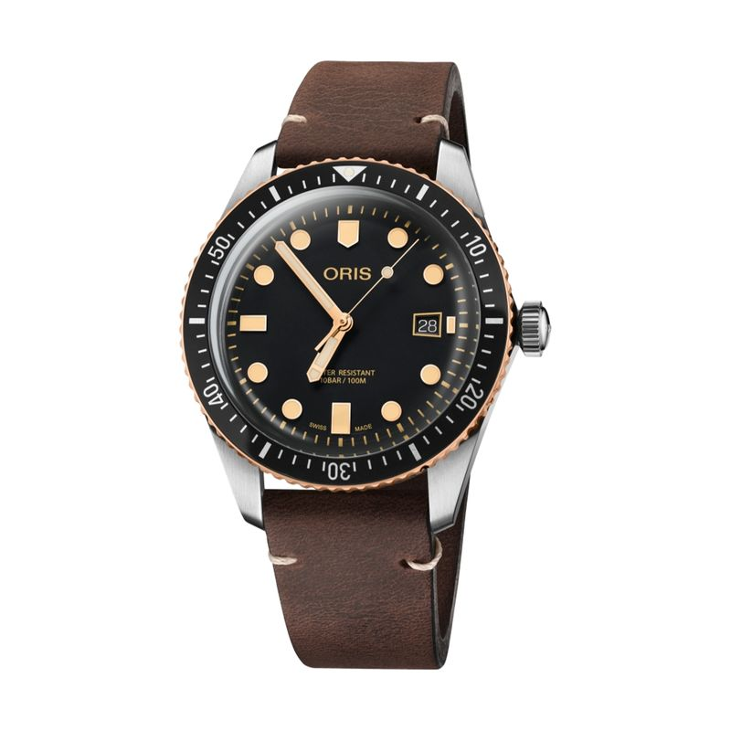 Divers Sixty-Five Steel/Bronze 42M Leather