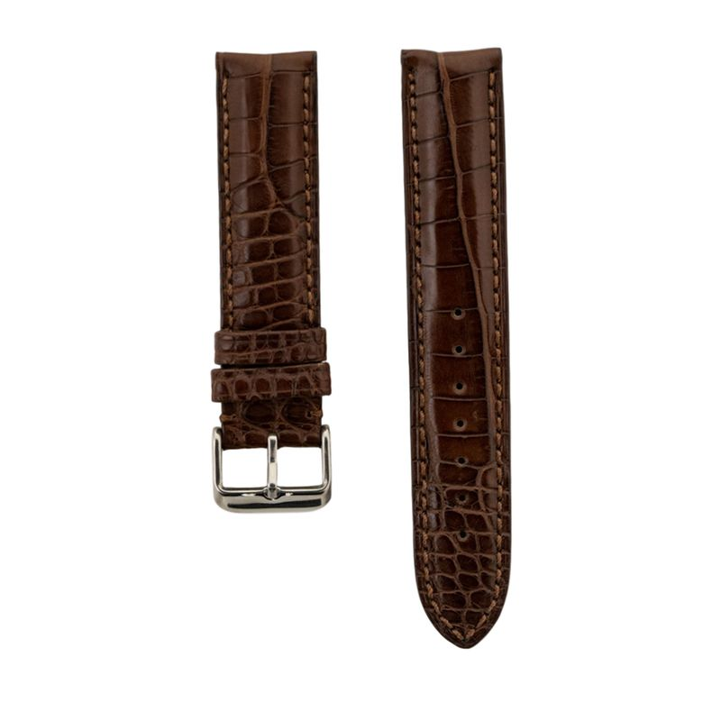 Brown Genuine Matte Alligator Strap