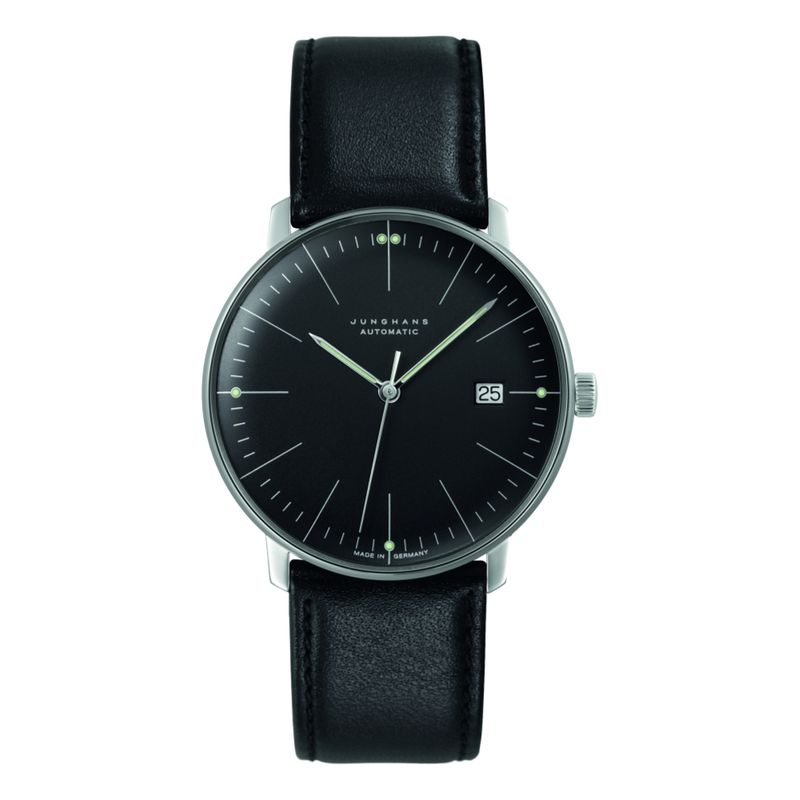 Max Bill Automatic Sapphire Crystal Black Dial
