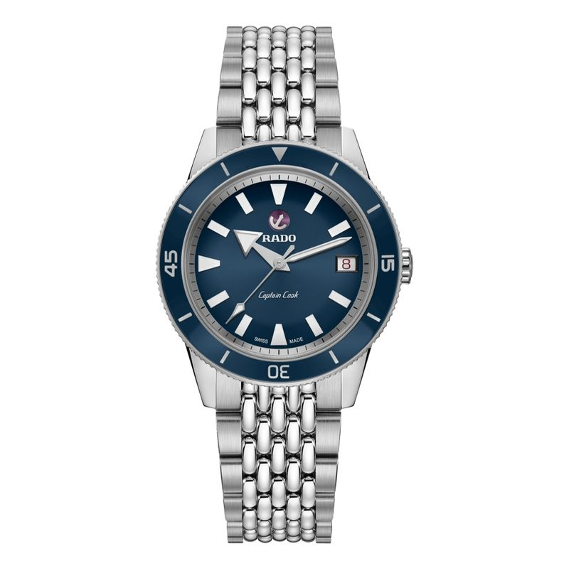 Captain Cook Automatic Blue Dial Beads of Rice Bracelet