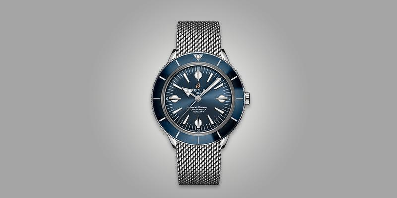 Breitling Superocean Heritage II 2 with B20 in-house movement and blue dial