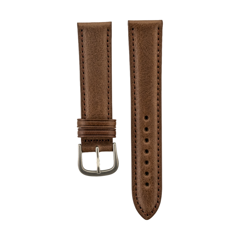 "Brown Genuine ""Vegetable Tanned"" Leather Strap"