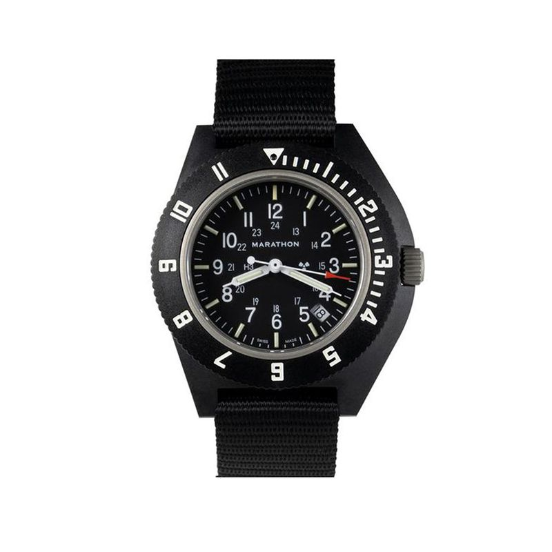 New Sapphire Crystal Pilot's Navigator with Date & Tritium - Black - 41mm