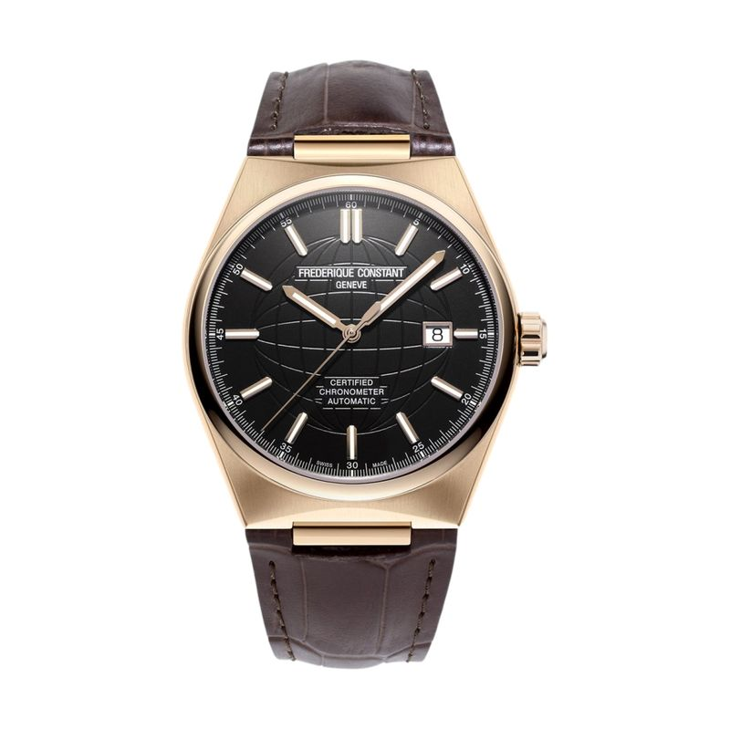 Highlife Automatic COSC Black Dial Rose Gold-Plated Case
