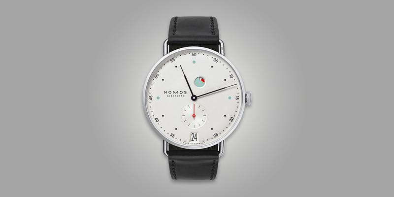 Nomos Metro Power Reserve Date leather strap