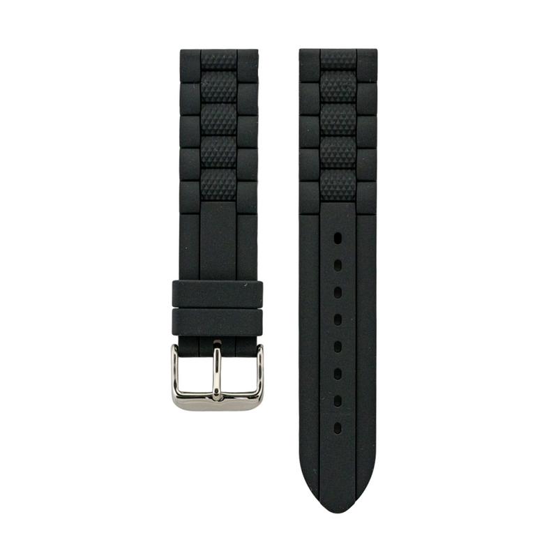 Dual Compression Silicone - Black Strap - Colored Center Stripe