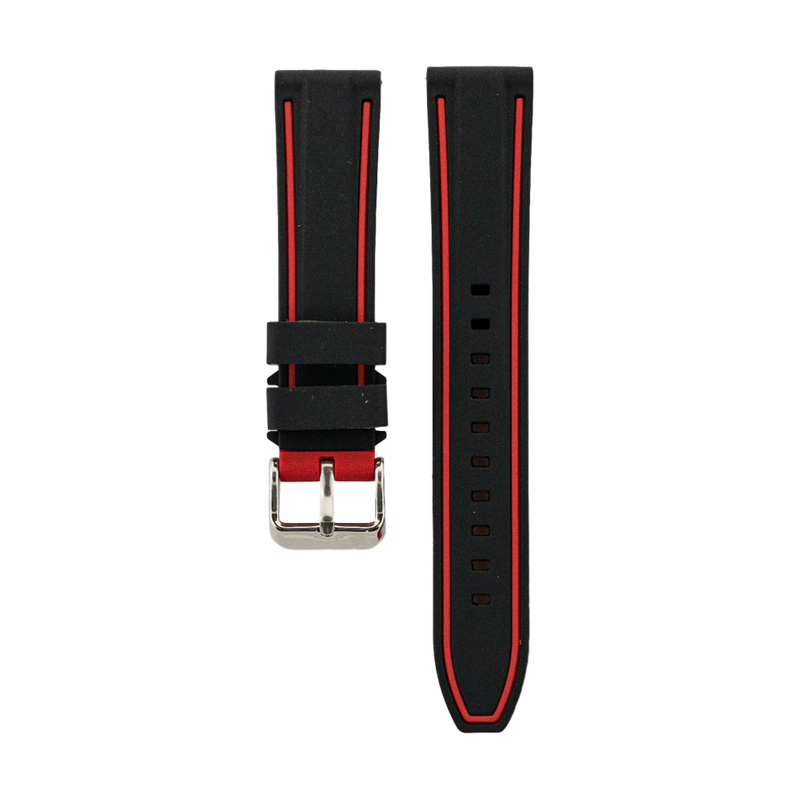 Dual Compression Silicone - Black Strap - Red Colored Lining