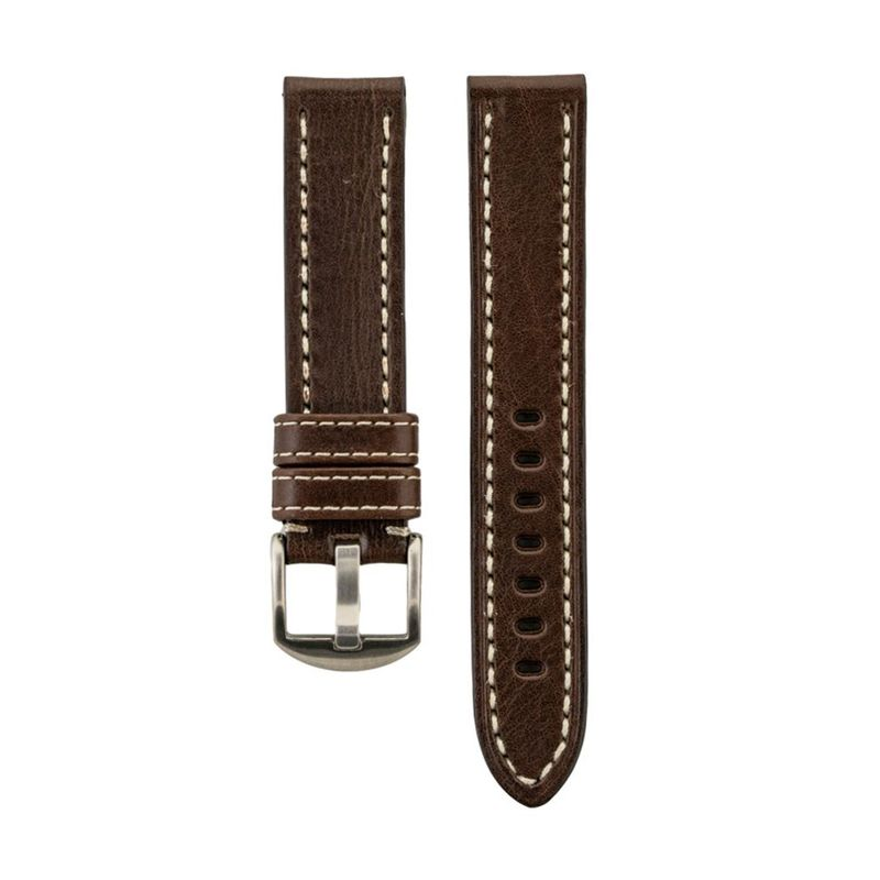 Brown Genuine Vegetable Tanned Ply Leather Strap
