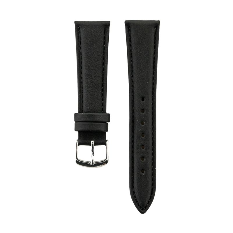 Black Genuine Calfskin Leather Strap