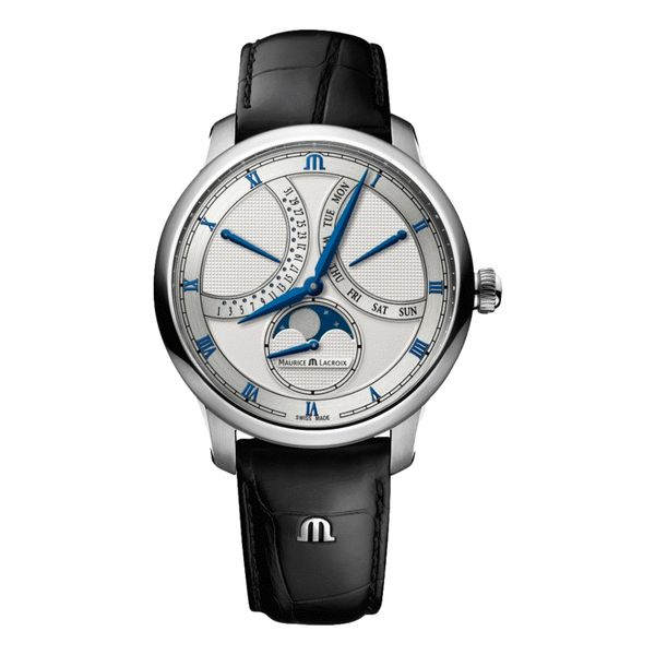 Masterpiece Moonphase Retrograde 43 mm - Silver Dial