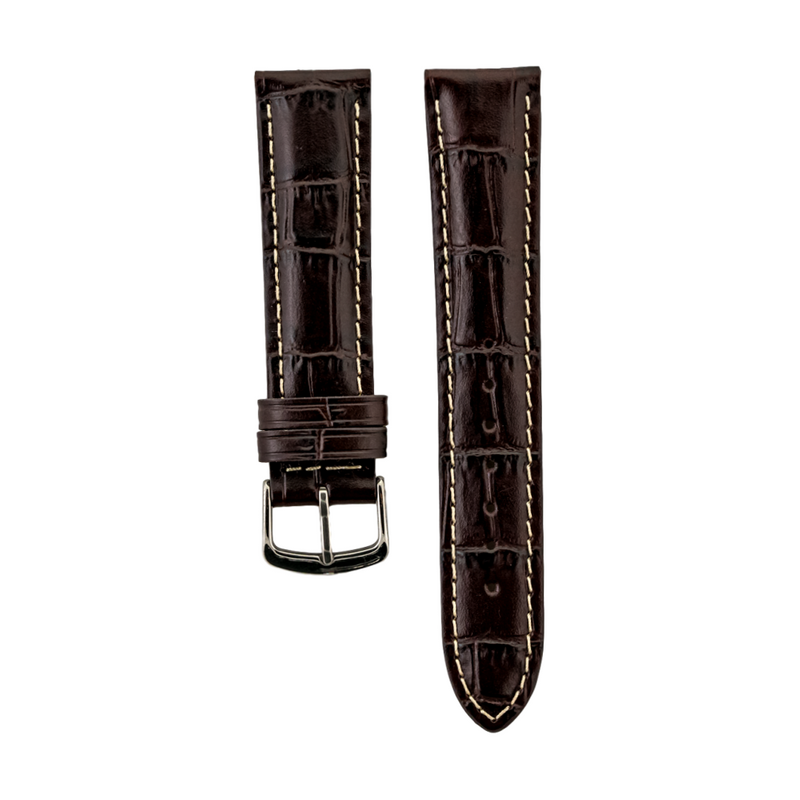 Brown Alligator Grain - Genuine Italian Calfskin