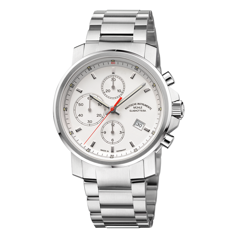 29er Chronograph Cream Dial Stainless Steel Bracelet