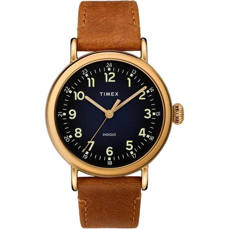 Timex Standard 40mm Leather Strap Watch