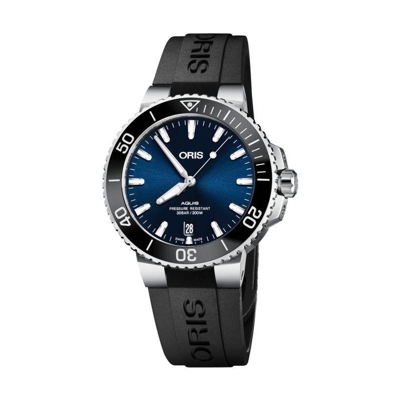 Aquis Date Blue Dial Rubber 39.5